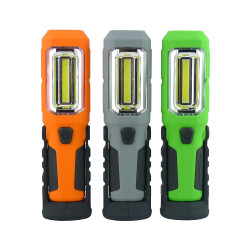 Useful 3*AA Battery rotation built in magnets handhold COB work light with led inspection work lamp Flashlight