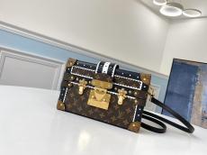 louis Vuitton /LV petite malle high quality replica crossbody messenger bag gold hardware