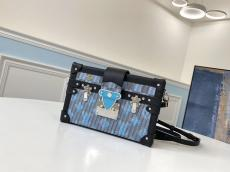 LV female petite malle crossbody small square bag phonebag in EPSON leather multi-style for option