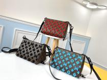 M54330 Louis Vuitton/LV zipper crossbody cosmetic bag shoulder bag in embroidered flocked Monogram canvas
