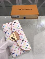M93738 Louis Vuitton/LV monogram flap triple-folding printing longwallet clutch passport holder