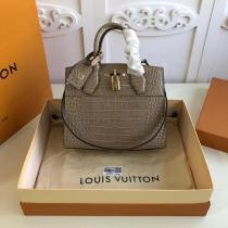 N92515 Louis vuitton/LV city steamer handbag briefcase crossbody bag in alligator leather