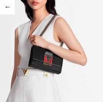M44916 Louis Vuitton/LV pochette thelma flap monogram sling-chain crossbody messenger bag