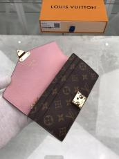 Louis Vuitton/LV monogram clamshell two-folding large-capacity long wallet credit card holder coin purse