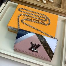 M67798 Louis Vuitton/LV twist flap sling-chain crossbody shoulder bag multi-slots longwallet clutch witch twist lock