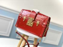 M90500 Louis Vuitton/LV compact suitcase embossed messenger crossbody shoulder bag in calfskin patent leather