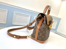 M44391 Louis Vuitton/LV monogram flap dauphine backpack with iconic metal LV letter LOGO buckle