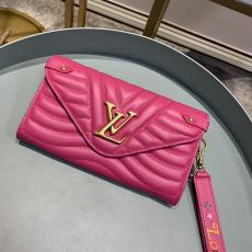 M63729 Louis Vuitton/LV quited envelope clamshell clutch multi-compartment and slot long wallet coin purse