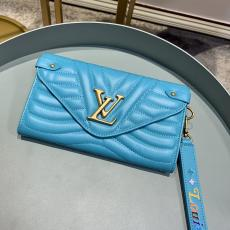 Louis Vuitton/LV quited envelope clamshell clutch multi-compartment and slot long wallet coin purse