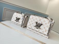 Louis Vuitton/LV twist monogram flap sling-chain crossbody shoulder bag retro messenger bag with iconic twist lock