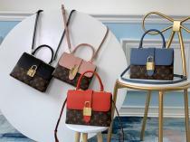 Louis Vuitton/LV Locky BB handbag retro clamshell crossbody shoulder bag with magnetic buckle and vintage Popper padlock