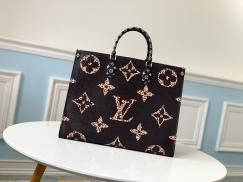 M44675 Louis Vuitton/LV monogram large-capacity casual shopping tote bag dazzling street outfits