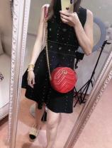 Gucci marmont wave-shape quited zipper round crossbody bag gorgeous street wear real shots ready stocks