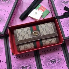 Gucci ophidia clamshell double-folding long wallet multi-slots card holder party clutch