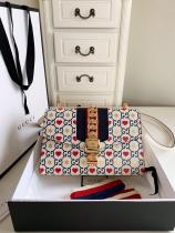 Gucci sylvie female clamshell printing portable messenger bag gorgeous street wear large size  524405