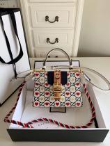 Gucci sylvie  female clamshell twist-lock messenger bag delicate crossbody phonebag small size  470270