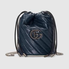 Gucci marmont female V-shape quited drawstring sling-chain shoulder crossbody bag