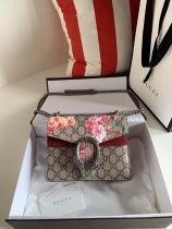 Gucci Dionysus female luxury canvas sling-chain crossbody shoulder bag silver-tone hardware