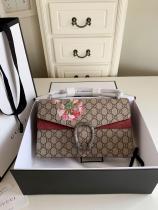 Gucci Dionysus female canvas printing sling-chain shoulder bag antique silver hardware large size