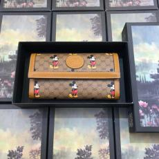 Gucci disney  limited edition female canvas clamshell zipper long purse wallet multi-slots card holder passport  holder