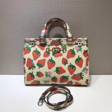 Gucci zumi female casual large-capacity  lightweight shopping tote bag with strawberry motif printing