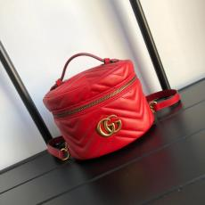 Gucci marmont female V-shape quited portable makeup bag box sling-chain shoulder bag