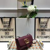 Gucci arli female elegant plain messenger bag double-compartment waterproof shoulder bag