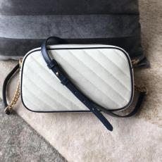 Gucci marmont V-shape quited single zipper tassel camera bag retro messenger bag double size
