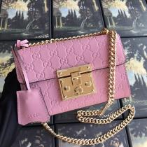 Gucci padlock female plain embossed sling-chain shoulder crossbody bag fashion capsule casual bag