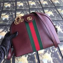 Gucci ophidia female casual  pure-color zipper crossbody shoulder bag elegant satchel