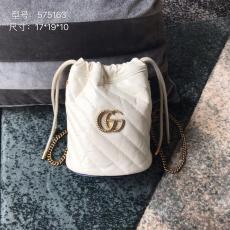 Gucci marmont female V-shape quited tassel drawstring bucket bag sling-chain shoulder crossbody bag antique bronze