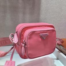 1BH017 Prada female nylon twin zipper waterproof tthree-pieces set camera bag silver-tone hardware