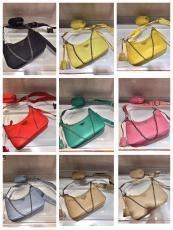 Prada female Re-edtion nylon three-pieces set waterproof half-moon shoulder bag