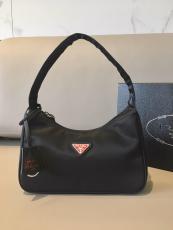 1NE515 Prada female vintage hobo degradable nylon half-moon waterproof shoulder bag indispensable casual street outfit