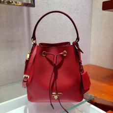 1BZ032 Prada female saffiano casual drawstring tassel bucket bag excellent girlfriend birthday gift aureate hardware