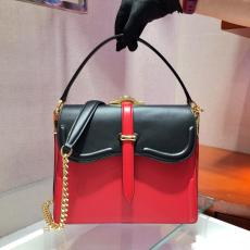 1BN004 Prada ladies color-contrast flap portable doctor bag luxury vintage sling-chain Cambridge bag essential daily wear for any occasion