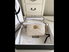 Gucci marmont women V-shape quited zipper camera small square bag gorgeous shoulder crossbody bag antique silver-tone hardware