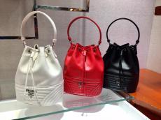 1BH038 Prada ladies mini stylish quited drawstring bucket bag