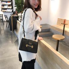 Prada female plain vintage flap messenger bag stylish causal crossbody bag in crocodile grain leather woven leather trim