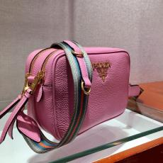 1BH082 Prada female double-zipper causal camera bag excellent girlfriend gift with detachable and adjustable wide canvas shoulder strap