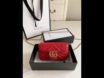 Gucci female marmont V-shape quited clamshell sling-chain shoulder bag gorgeous party date wear small size real shot
