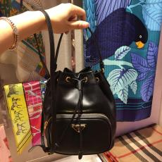 Prada female casual plain tassel drawstring backpack