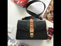 Gucci sylvie female clamshell retro messenger shoulder bag large size