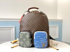 M56851 Louis Vuitton/LV Multipocket neutral monogram practical outdoor traveling backpack sport mountaineering rucksack