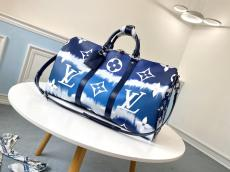 M45121 Louis Vuitton/LV male monogram canvas large-capacity Boston traveling shopping bag intimate companion for business traveling