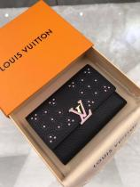 Louis Vuitton/LV female clamshell three-folding multi-slots card holder coin purse medium wallet