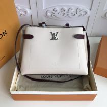 M53730 Louis Vuitton/LV lockme women stylish multifunction handbag plain large-capacity shopping tote bag multicolor for election