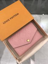 Louis Vuitton/LV ladies casual embossed clamshell multi-slots coin pouch medium wallet