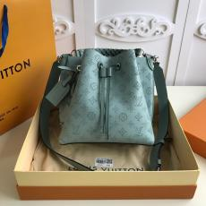M55800 Louis Vuitton/LV Muria female plain drawstring bucket bag with braided handle