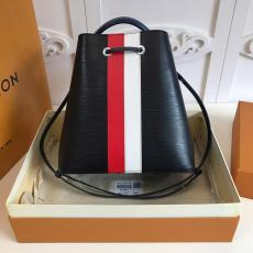 M52163 Louis Vuitton/LV female scratch-proof color-contrasted drawstring bucket bag multiple color for option